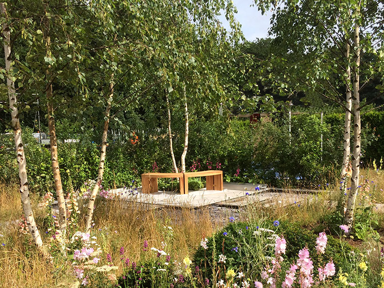 northways benches rhs show oxford oak