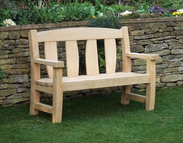 oxford oak goosey bench 2 seater